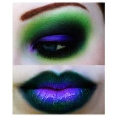 Black and Green gothic makeup Makeup,Nails, Hairstyles