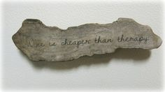 Wine Therapy Driftwood Magnet wine is cheaper by CBbyClaireHaysley