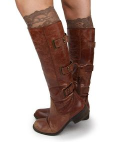 This Cocoa Lace Boot Cuff is perfect! #zulilyfinds