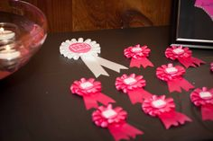 """Make sure the bridal party stands out from the rest of the crowd.  You can purchase """"Team Bride"""" pins at a party story or online"""