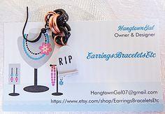 Halloween earrings RIP tombstone earrings by EarringsBraceletsEtc
