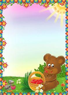 оформление группы - Самое интересное в блогах Easter Wallpaper, Wallpaper Backgrounds, Girl Scout Logo, Fruit Costumes, Kindergarten Coloring Pages, Boarder Designs, Boarders And Frames, Frame Download, Classroom Birthday
