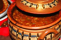 Annies Art Book- Food: Bulgarian navy beans in a clay pot ( or slow cooker)