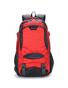 5c9d97ade192 LongPal Waterproof 40L MultiFunctional Casual Hiking Backpack Daypack For Outdoor  Hiking Camping Travel Red --