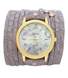 Relógio Bracelete Cinza Rosa e Azul