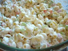 pasta salad made for southerners... full of flavor - blended in a creamy dressing with crunchy vegetables