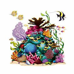 Our Coral Reef Add On Prop brings the ocean alive with the blue, pink, purple colored coral reef and tropical fish. Each coral reef add on is made of plastic, measures 5 feet x 5 feet.