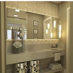 Sofisticação em um só lugar ... Lavabo maravilhoso!  Autor: desconhecido  #projeto #designdeinteriores #arquitetura #ap #home #lavabo #luxo #sofisticado #clean #homedesign #homedecor #decoracao #decor #work #instagram #instadesign #design #style #gratidão #inspiração #lovedesign