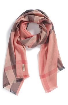 Free shipping and returns on Burberry Check Scarf at Nordstrom.com. A hint of cashmere softens a sophisticated silk scarf branded with signature check print.