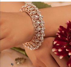 Diamond Bracelets, Cuffs & Bangles : Image Description Saved by radha reddy garisa Diamond Bracelets, Diamond Jewelry, Bangle Bracelets, Gold Bangles Design, Jewelry Design, Modern Jewelry, Metal Jewelry, Gold Jewelry, Jewellery