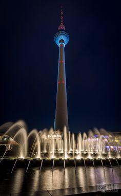 ღღ Berlin, Germany - TV Tower at Alexanderplatz ~~~ Festival of Lights 2014 by Tom Kpunkt