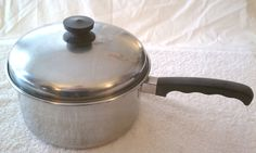 US $38.00 Used in Collectibles, Kitchen & Home, Kitchenware. Vintage tri-ply vollrath, 3 qt. saucepan