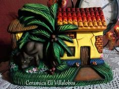 Clay Art Projects, Paper Crafts, Diy Crafts, Glitter Houses, Carving, Ceramics, Christmas Ornaments, Manila, Halloween