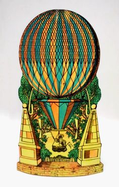 An umbrella stand with a hot air balloon motif design by Piero Fornasetti.