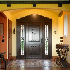 Hacienda Design Ideas, Pictures, Remodel, and Decor - page 13...love the door and tile