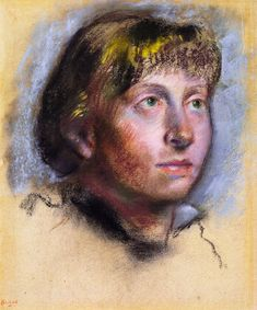 Woman's Head Artwork By Edgar Degas Oil Painting & Art Prints On Canvas For Sale Edgar Degas, Degas Drawings, Van Gogh Watercolor, Salvador Dali Art, Pastel Portraits, Impressionist Artists, Expositions, Art Day, Canvas Art Prints