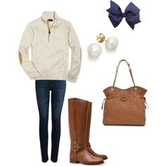 AG Adriano Goldschmied jeans, Tory Burch boots, and Tory Burch tote bag.