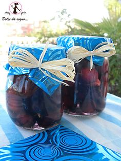 ciliegie al maraschino - opskrift med meget lidt sukker, men som kan holde sig i op til et år.