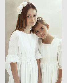 Girls First Communion Dresses, Baptism Dress, Birthday Dresses, Blush Flower Girl Dresses, Girls Sleepwear, Dress With Cardigan, Girly Outfits, Nice Outfits, Baby Dress