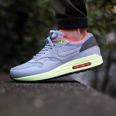 check out 9aa95 4d484 Nike Air Max 1 FB Wolf Grey Liquid Lime Pink is the newest Air Max 1 Fb to  release.