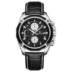 2017 Megir Watches Men Watch Luxury Famous Brand Chronograph Men Watches Male Clock Sports Uhr Leather Quartz-Watch Reloj Hombre