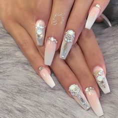 What manicure for what kind of nails? - My Nails Classy Nails, Stylish Nails, Trendy Nails, Cute Nails, Beautiful Nail Designs, Cute Nail Designs, Acrylic Nail Designs, Prom Nails, Bling Nails