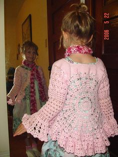 DIY Crochet Cardigan Sweater Free Patterns - Cretíque (have patterns)DIY Crochet Cardigan Sweater Coat Free Patterns from kids to adults, in both short and long sleeved versions.Hippy Crochet Jacket Free Pattern this another view of the pattern I wa Crochet Hippie, Crochet Girls, Crochet Baby Clothes, Crochet For Kids, Crochet Children, Diy Crochet Cardigan, Crochet Jacket, Knit Or Crochet, Crochet Shawl