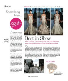 @The Bach featured in Uptown Magazine wedding issue