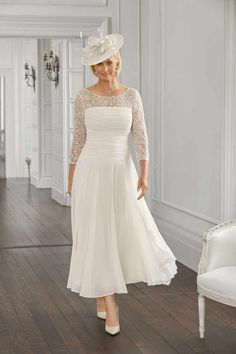 Are you an older bride who's stuck for what to wear on your wedding day? We round up the most sophisticated dresses out there for the mature amongst us Wedding Dresses For Older Women, Older Bride Dresses, Wedding Outfits For Groom, Mother Of Bride Outfits, Most Beautiful Wedding Dresses, Mother Of Groom Dresses, Pink Wedding Dresses, Tea Length Wedding Dress, Bridal Dresses
