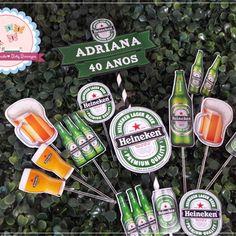 Topper Para Bolo Heineken Bolo Naruto, Sauce Bottle, Soy Sauce, Amanda, Daddy, Drinks, Food, Beer Birthday Cakes, Punto Cruz