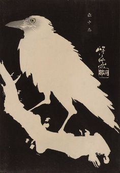 Kawanabe Kyosai, Crow in Snow, 19th century (source)