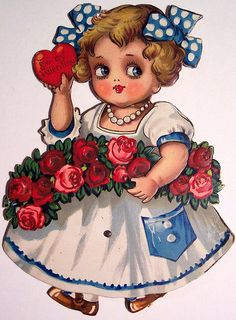 My Funny Valentine, Valentines Day Holiday, Vintage Valentines, Valentine Day Cards, Vintage Cards, Vintage Paper, Vintage Images, Decoupage Vintage, Valentine's Day Greeting Cards