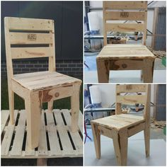Awesome Upcycled Pallet Chair  #palletchair #palletfurniture #recyclingwoodpallets Chair made with upcycled pallets... and with stamp! :-)   ...