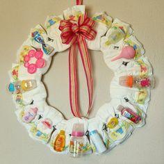 Basic Diaper Wreath  Custom Girl Colors  Medium by simplyrosy, $55.00