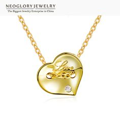 Gold Plated Zircon Heart Long Necklace – Global Product Store