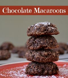 Chocolate Macaroons | Real Food Real Deals #healthy #recipe #valentinesday