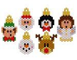 Mini Christmas Bauble Selection Earring Bead Pattern By ThreadABead