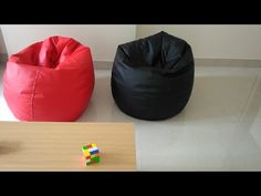 How to Make an Amazing Easy Bean Bag Chair (Sillón Puff Tutorial) Red Bean Bag, Leather Bean Bag Chair, Cool Bean Bags, Bean Bag Covers, Beans, Cool Stuff, Colorful, Live, Reuse