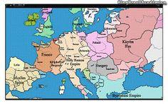 1000 anos de mudanças de fronteiras da Europa (estendido)  Vídeo de 10 minutos mostrando a evolução do mapa político da Europa nos últimos 1000 anos.  Veja como evoluiu a formação dos estados nacionais europeus ao longo da história com essa animação. Os anos são exibidos no canto superior esquerdo do vídeo.Fonte: YouTube [Visto no Brasil Acadêmico] Europa História Mapas