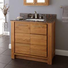 Venica Teak Vanity for Undermount Sink - Bathroom Vanities - Bathroom Teak Shower Stool, Teak Bathroom, Bathroom Vanity Cabinets, Wood Vanity, Vanity Sink, Bathroom Vanities, Bathroom Ideas, Bathroom Modern, Bathroom Remodeling