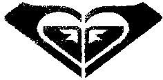 '93 The Roxy Logo.  ROXY made the Quiksilver wave breaking-over-a-mountain logo its own by turning it into the signature ROXY heart.