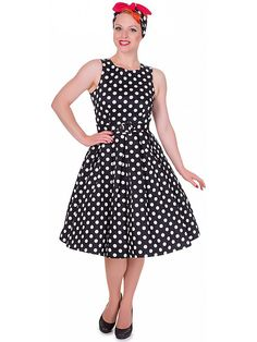 1c141be567958f Annie Retro Swing Dress in Black and White Dots by Dolly and Dotty. Flaming  Star · Rockabilly Dresses / Kleider