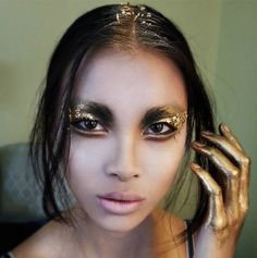 * Smoulder & Gild * Flashing back to the gilded glory of this gold-dipped, smoke-infused beauty look by Blanche Macdonald Makeup instructor/graduate Timothy Hung, for our Wandering Stars Fashion Showcase promo pieces!