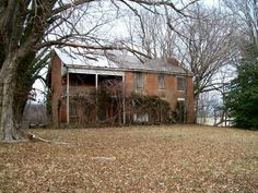 one of the finest farmhouses in this part of Ohio in the early 1800s, in the Greek Revival style. Abandoned for many years, the house is now all but invisible from the road.