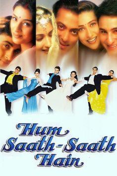 Hum Saath - Saath Hain Hindi Movie Online in HD - Einthusan 1999 Hindi Bollywood Movies, Pakistani Movies, Bollywood Posters, Indian Movies, Tamil Movies, Srk Movies, Bollywood Party, Movies 2019, Comedy Movies