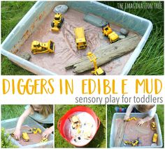 Make a super fun invitation to play for toddlers and preschoolers with this diggers in edible mud sensory tray! Perfect for even the littlest hands and mouths to explore and a great first sensory tub for vehicle lovers. We had such fun with the edible sensory play farmyard that we used the same method to...Read More »
