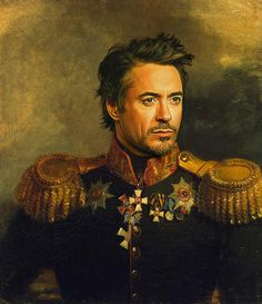 Robert Downey Jr print by replaceface - via www.murraymitchell.com
