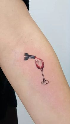 creative watercolor tattoo for wine lovers © Tattoo Artist Jacket Michaelsen ❤ . - creative watercolor tattoo for wine lovers © Tattoo Artist Jacket Michaelsen ❤ … - Wine Tattoo, J Tattoo, Bottle Tattoo, Wrist Tattoos, Body Art Tattoos, Small Tattoos, Tattoo Tree, Wine Glass Tattoos, Tattoo Quotes