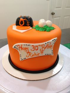 Baltimore Orioles Cake My Cakes Ive Decorated Practicing for