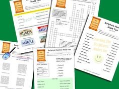 Scripture Mastery Activity Sheets - FREE!! I also like the way the student has to record the time they got to seminary and whether they read the scriptures.